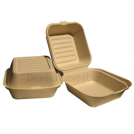 Contenedor Almeja 6'' x 6'' Biodegradable