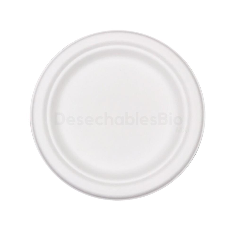 Desechables Bio México   Plato Pastelero 6'' Biodegradables de Bagazo de Caña 4