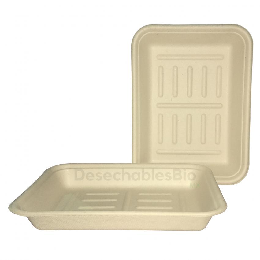 Desechables Bio México | Charola 350 ml.19x14cm Biodegradable 1