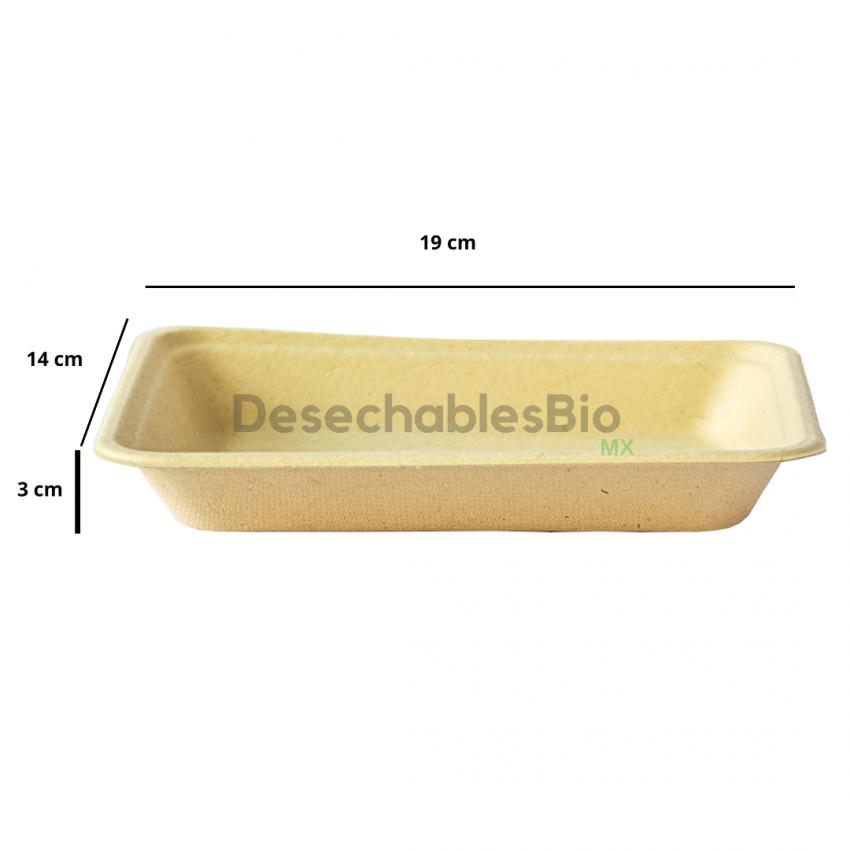 Desechables Bio México | Charola 350 ml.19x14cm Biodegradable 2