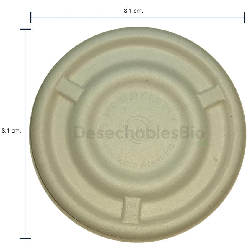 Desechables Bio México   Tapa copa souffle 4-5 oz. Biodegradable 1