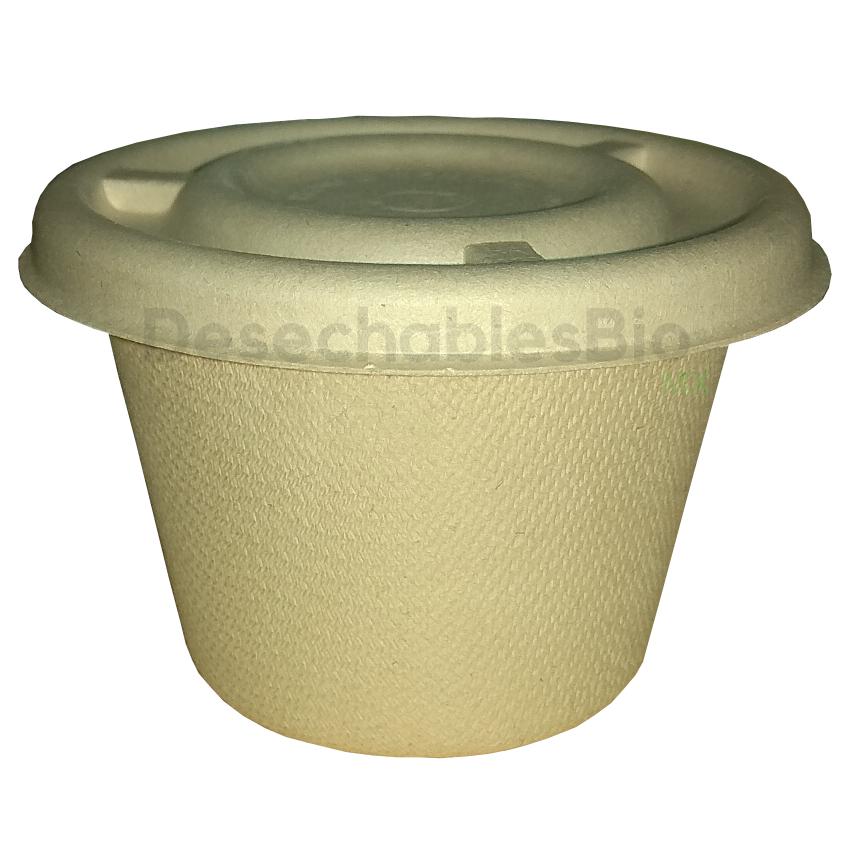 Desechables Bio México   Tapa copa souffle 4-5 oz. Biodegradable 3