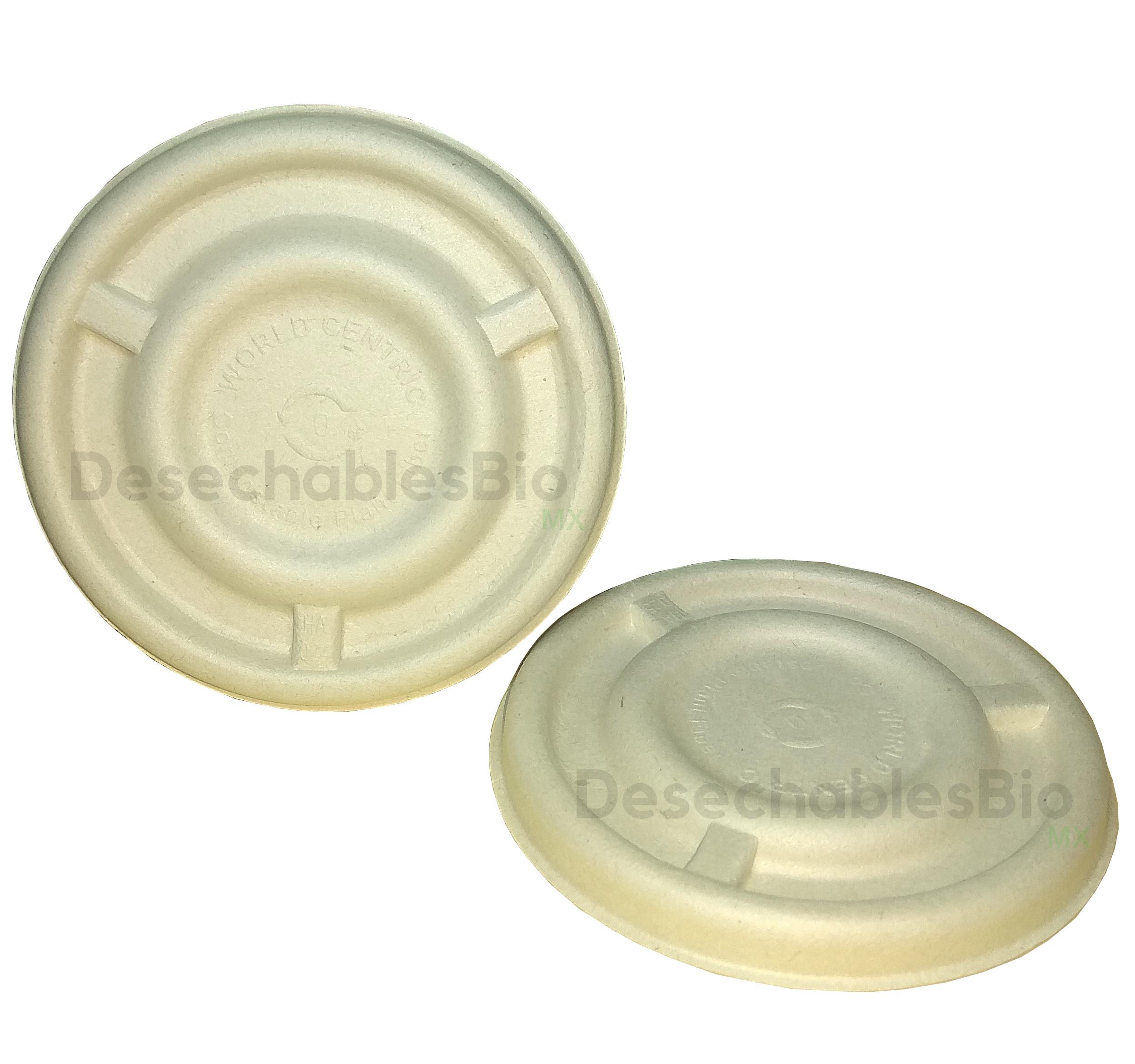 Desechables Bio México   Tapa copa souffle 4-5 oz. Biodegradable 2