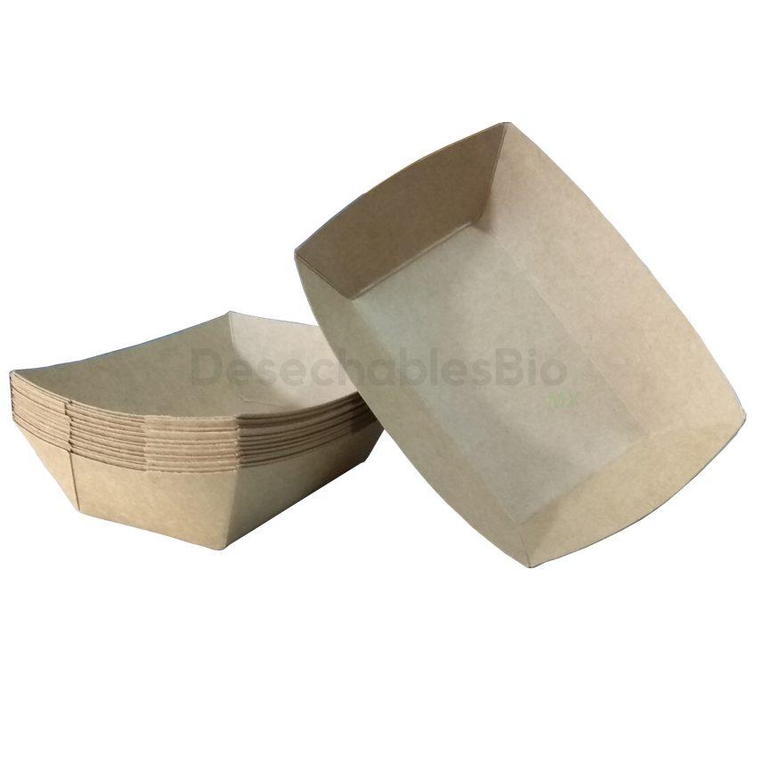 Charola kraft 14x5 mediana-1MM