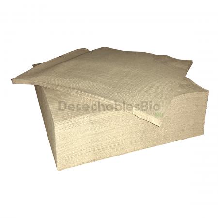 Servilleta Chica Biodegradable Papel Kraft Reciclado 23x23 Cm