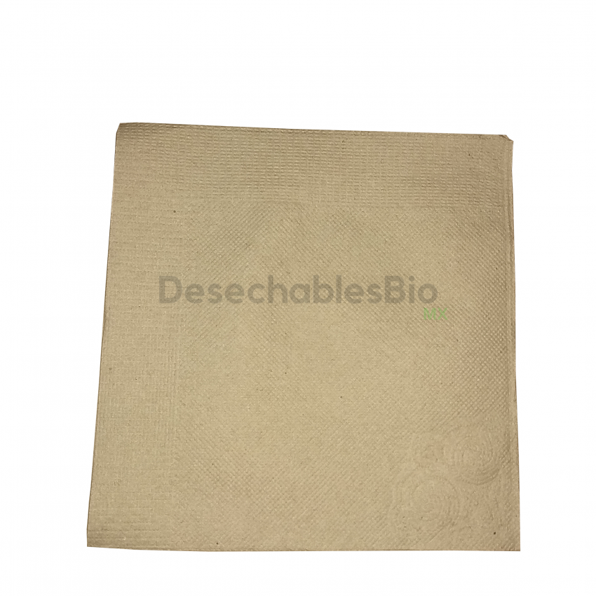 Servilleta Chica Biodegradable Papel Kraft Reciclado 23x23 Cm2