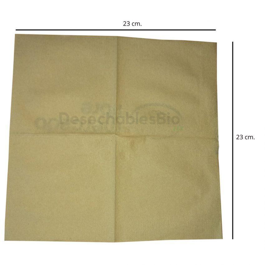 Servilleta Chica Biodegradable Papel Kraft Reciclado 23x23 Cm 4